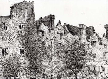 Fine Art Print  Castle ruin Hay on Wye, 2007,
