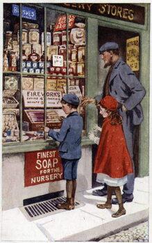 Fine Art Print Children choosing fireworks