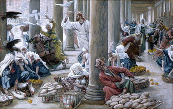 Fine Art Print Christ Driving Out Them that Sold And Bought from the Temple, illustration for 'The Life of Christ', c.1884-96