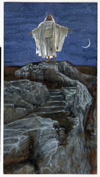Fine Art Print Christ Going Out Alone into a Mountain to Pray, illustration for 'The Life of Christ', c.1886-94