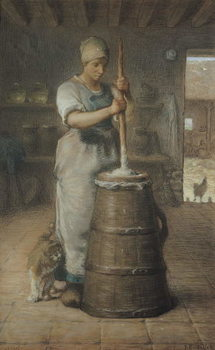 Fine Art Print Churning Butter, 1866-68
