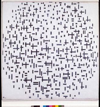 Fine Art Print  Compositie in zwat en wit (Composition with lines, more or less) Painting by Piet Mondrian  1917 Sun 108,4x108, 4 cm Otterlo, Rijksmuseum Kroller-Muller