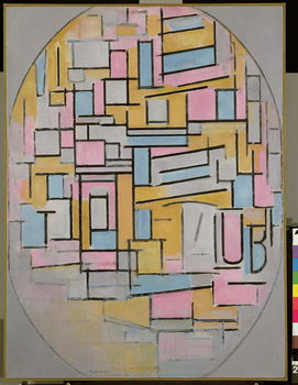 Fine Art Print Composition in Oval with Colour Planes 2, 1914