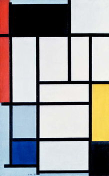 Fine Art Print Composition with red, yellow, and blue, 1921
