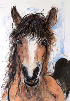 Fine Art Print Crazy Horse, 2016,