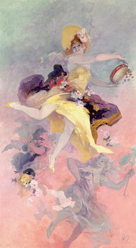 Fine Art Print  Dancer with a Basque Tambourine