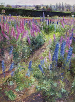 Fine Art Print  Delphiniums and Hoers, 1991
