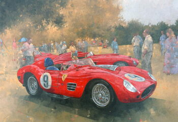 Fine Art Print Ferrari, day out at Meadow Brook