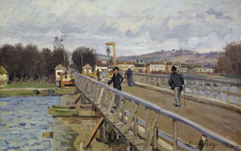 Fine Art Print Footbridge at Argenteuil, 1872