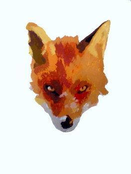 Fine Art Print Fox face, 2013