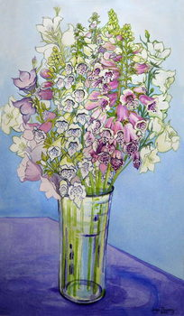 Fine Art Print Foxgloves and Campanulas,2005