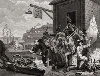 Fine Art Print France, engraved by C. Armstrong, from 'The Works of Hogarth', published 1833