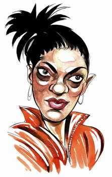 Fine Art Print Freema Agyeman as Martha Jones, companion of 10th Doctor Who in BBC television series Doctor Who