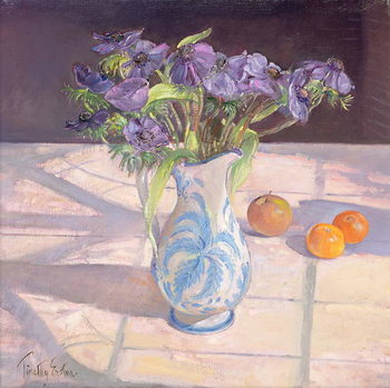 Fine Art Print French Jug with Anemones