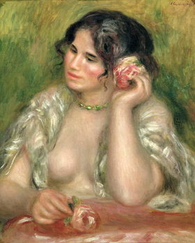Obraz na plátně  Gabrielle with a Rose, 1911