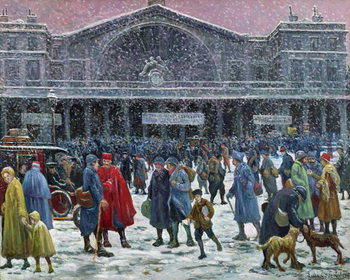 Fine Art Print Gare de l'Est Under Snow, 1917