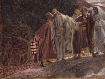 Fine Art Print Hail Master, and He Kissed Him, illustration for 'The Life of Christ', c.1886-94