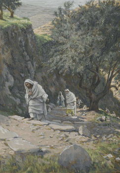 Fine Art Print He Went on His Way to Ephraim, illustration from 'The Life of Our Lord Jesus Christ', 1886-96
