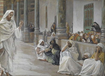 Fine Art Print He Who is God Hears the Word of God, illustration from 'The Life of Our Lord Jesus Christ', 1886-94