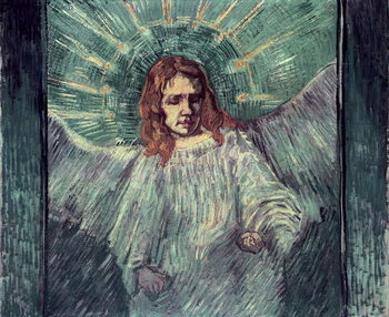 Fine Art Print  Head of an Angel, after Rembrandt, 1889
