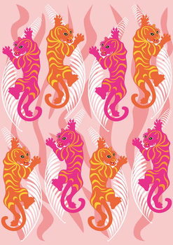 Fine Art Print Hot Pink Tiger