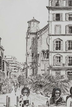 Fine Art Print  Hotel 5 and Notre Dame Cannes, 2014,