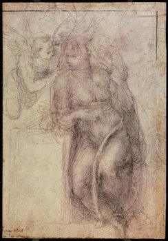 Fine Art Print Inv.1895-9-15-516.recto (w.72) Study for the Annunciation , 1547
