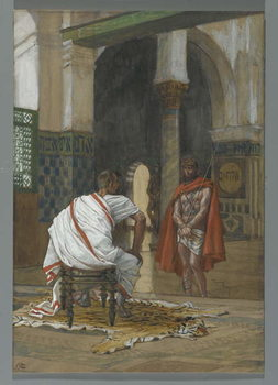Fine Art Print  Jesus Before Pilate - Second Interview, illustration from 'The Life of Our Lord Jesus Christ', 1886-94