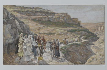 Fine Art Print Jesus Discourses with His Disciples, illustration from 'The Life of Our Lord Jesus Christ', 1886-96