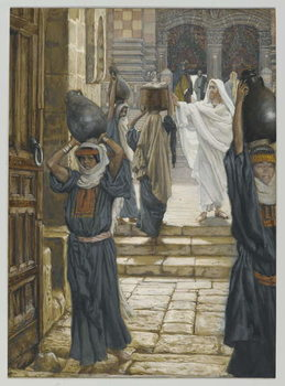 Fine Art Print  Jesus Forbids the Carrying of Loads in the Forecourt of the Temple, illustration from 'The Life of Our Lord Jesus Christ', 1886-94