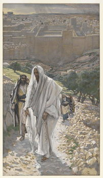 Fine Art Print Jesus goes in the Evening to Bethany, illustration from 'The Life of Our Lord Jesus Christ', 1886-94