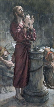 Fine Art Print Jesus in Prison, illustration for 'The Life of Christ', c.1884-96