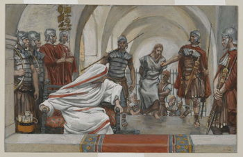 Fine Art Print  Jesus Led from Herod to Pilate, illustration from 'The Life of Our Lord Jesus Christ', 1886-94