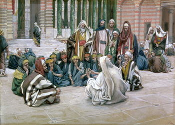 Fine Art Print  Jesus Speaking in the Treasury, illustration for 'The Life of Christ', c.1886-96