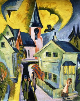 Fine Art Print Konigstein with Red Church; Konigstein mit roter Kirche, 1916