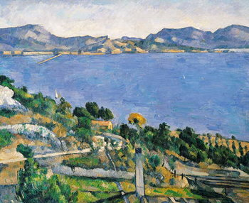 Fine Art Print L'Estaque, View of the Bay of Marseilles, c.1878-79