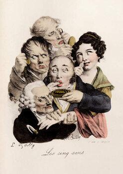 Fine Art Print Les cinq Sens Engraving by Louis-Leopold Boilly