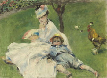 Fine Art Print Madame Monet and Her Son, 1874