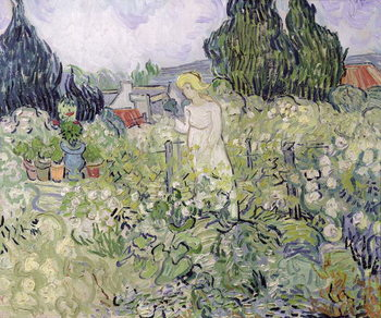 Fine Art Print Mademoiselle Gachet in her garden at Auvers-sur-Oise, 1890
