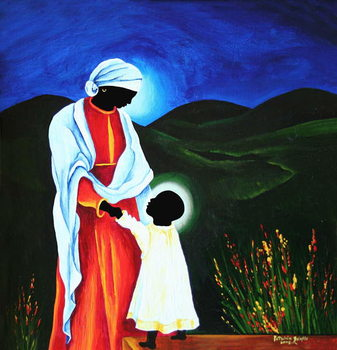 Fine Art Print  Madonna and child - First steps, 2008