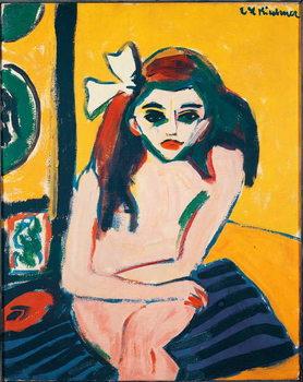 Fine Art Print Marcella Painting by Ernst Ludwig Kirchner  1909-1910 Dim. 71,5x61 cm Stockholm Modern Museum