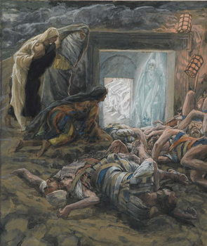 Fine Art Print Mary Magdalene and the Holy Women at the Tomb, illustration from 'The Life of Our Lord Jesus Christ', 1886-94