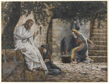 Fine Art Print  Mary Magdalene at the Feet of Jesus, illustration from 'The Life of Our Lord Jesus Christ', 1886-94