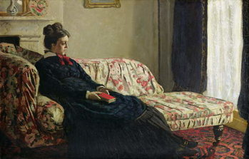 Fine Art Print  Meditation, or Madame Monet on the Sofa, c.1871
