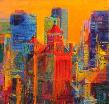 Fine Art Print Midtown Manhattan from The Waldorf