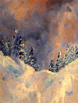 Fine Art Print Mist on the Snow Peak, 2009,