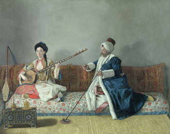 Fine Art Print Monsieur Levett and Mademoiselle Helene Glavany in Turkish Costumes