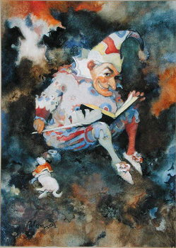Fine Art Print  Mr. Punch with Diary and Toby, 1988