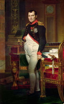 Fine Art Print Napoleon Bonaparte in his Study at the Tuileries, 1812
