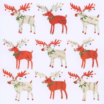Fine Art Print Nine Document Reindeer